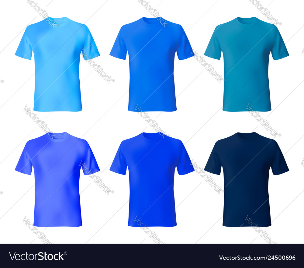 Shirt Design Template Set Men T Shirt Navy Blue Vector Image