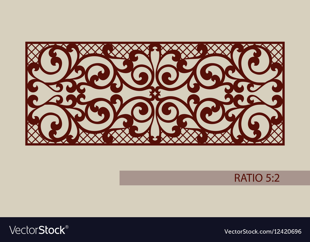 Template for laser cutting decorative panel Vector Image