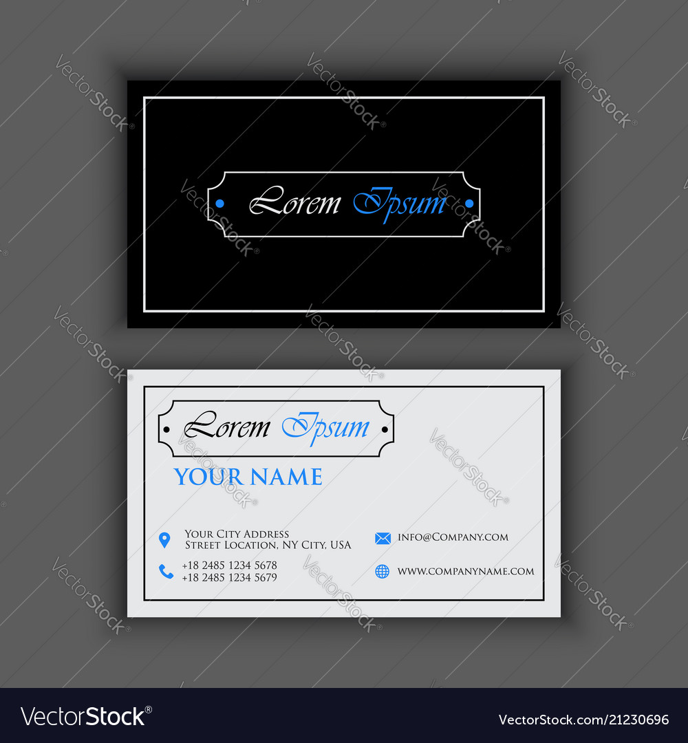 Vintage luxury and clean business card template