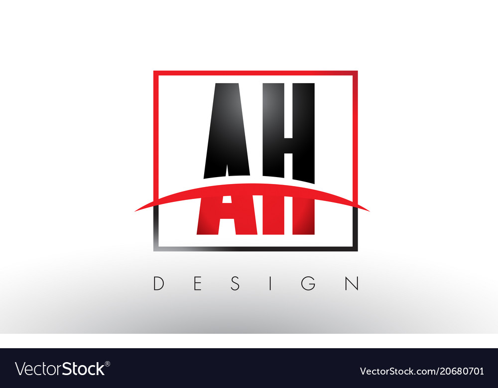 Ah a h logo letters with red and black colors