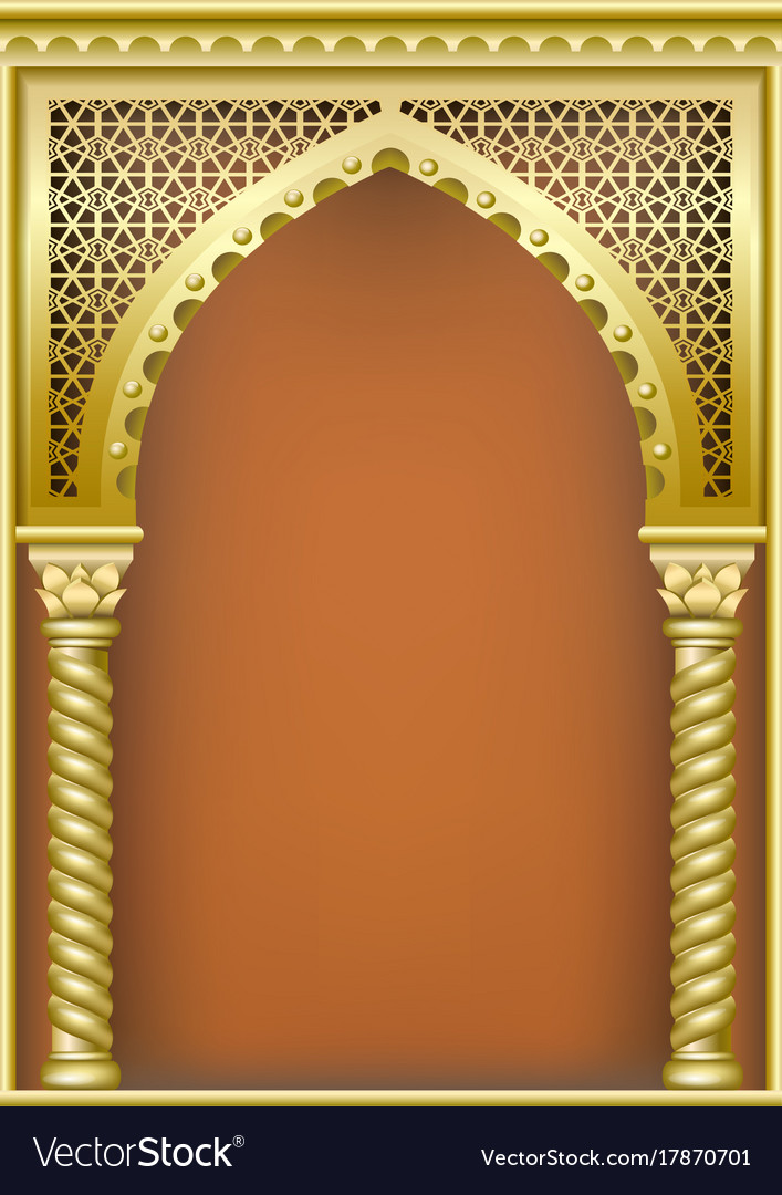 cover with the arab arch royalty free vector image