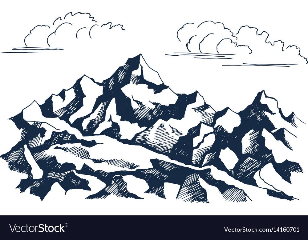 Rocks sketch vector image