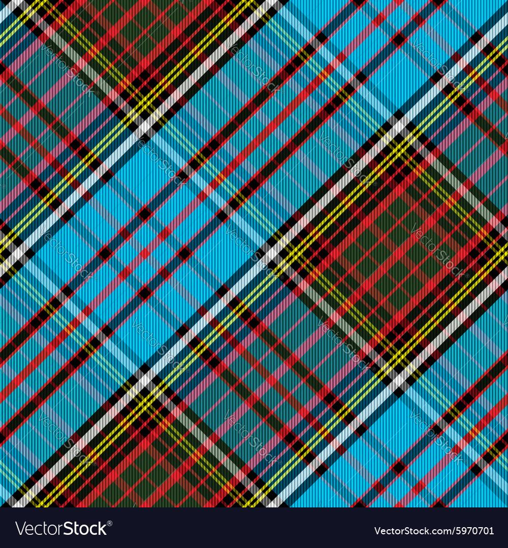 Tartan Clan Anderson diagonal seamless vector image