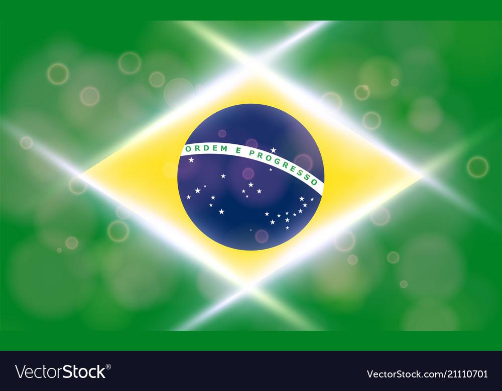 The national flag of brasil modern pattern