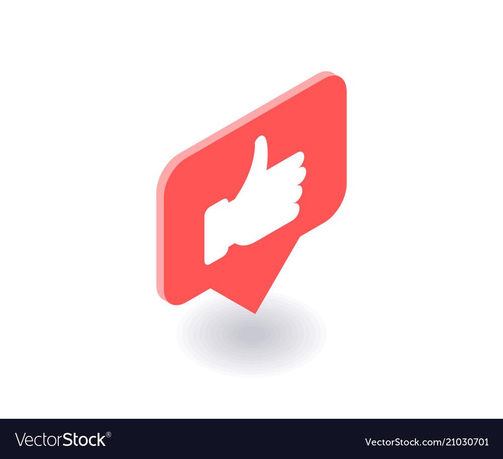 Thumbs up like icon symbol