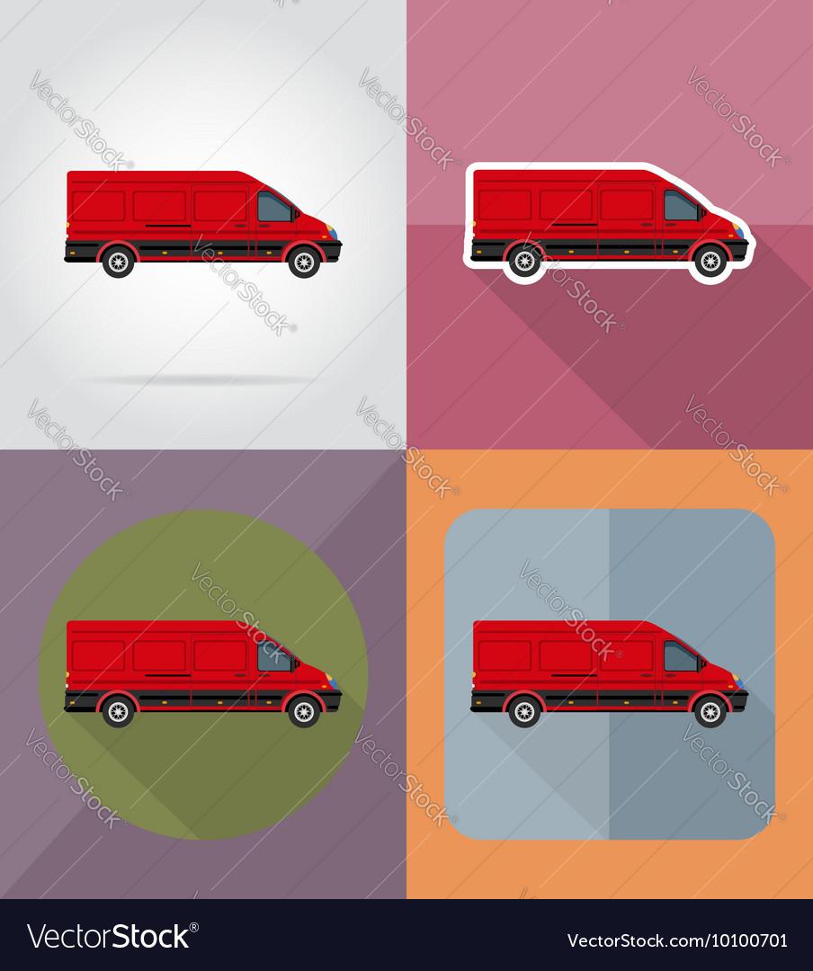 Transport flat icons 12