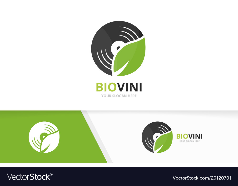 Vinyl and leaf logo combination record and