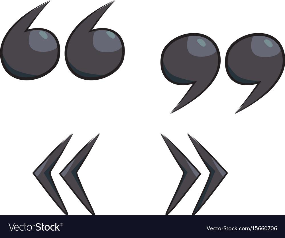 Cartoon image of quote mark icon quote symbol vector image