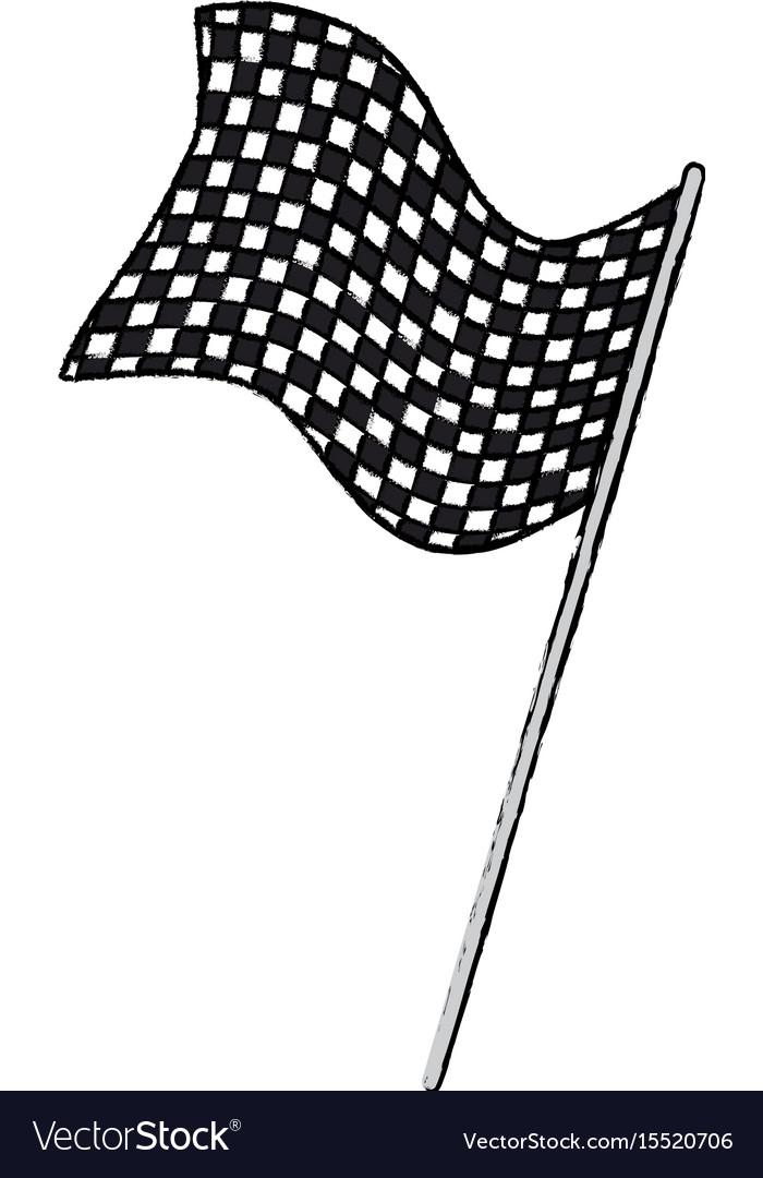 Flag sport finish winner design vector image