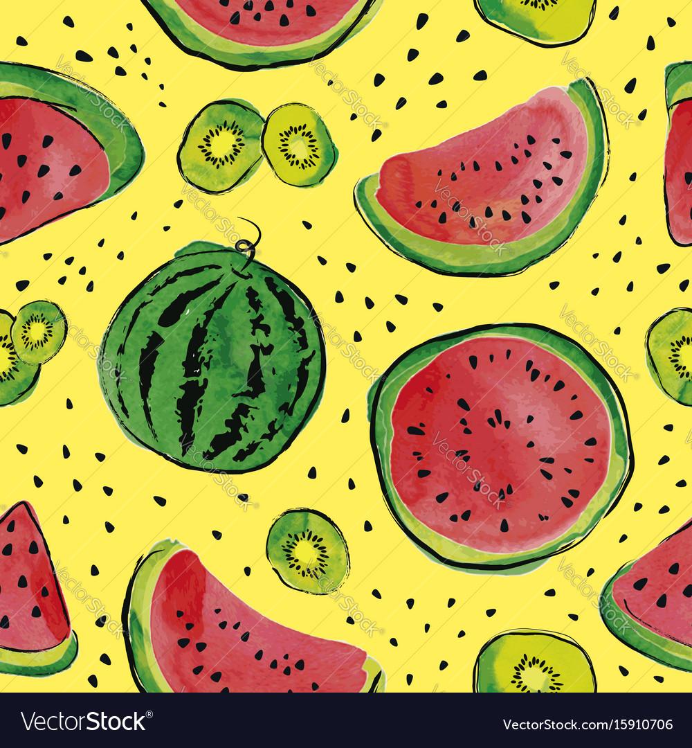Fruit watercolor pattern