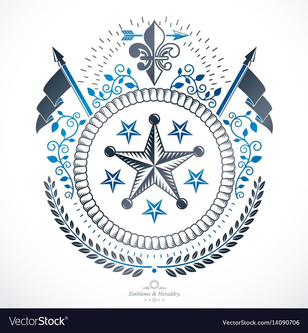 Heraldic coat of arms decorative emblem