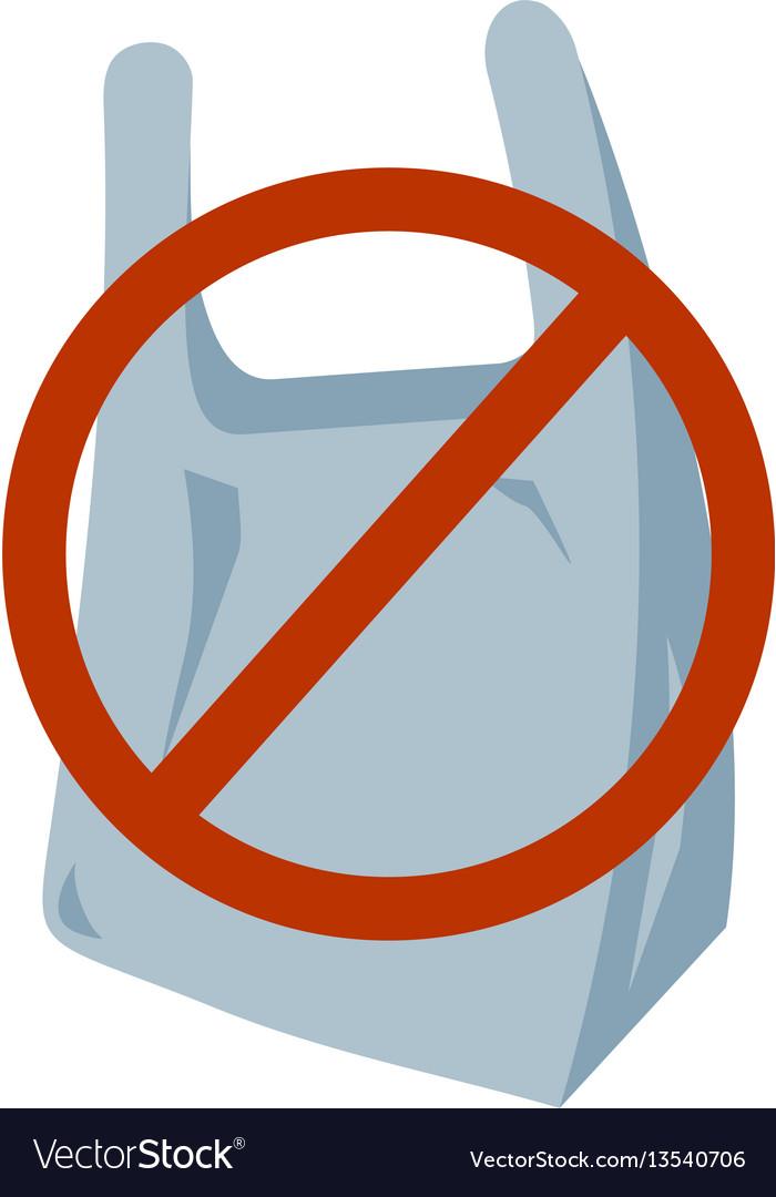 No plastic bag icon vector image