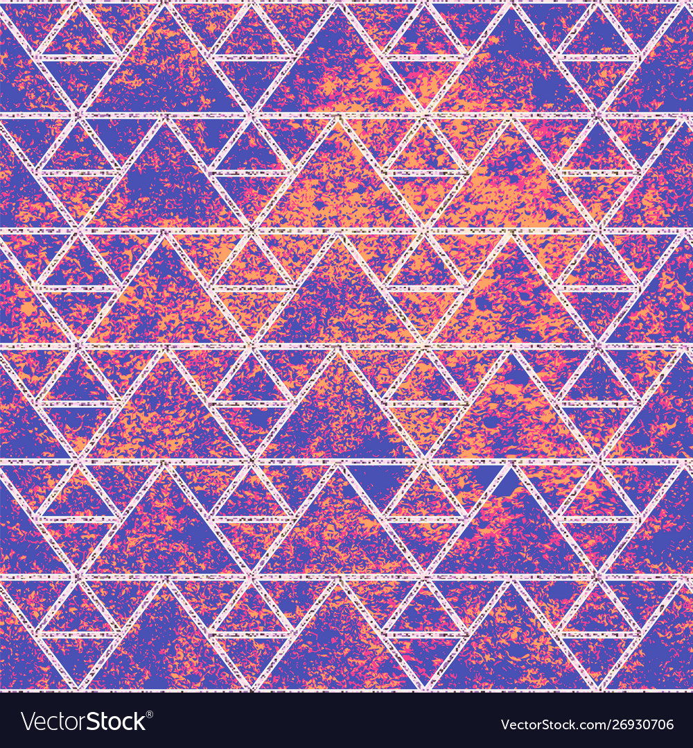Purple grunge texture with white triangles