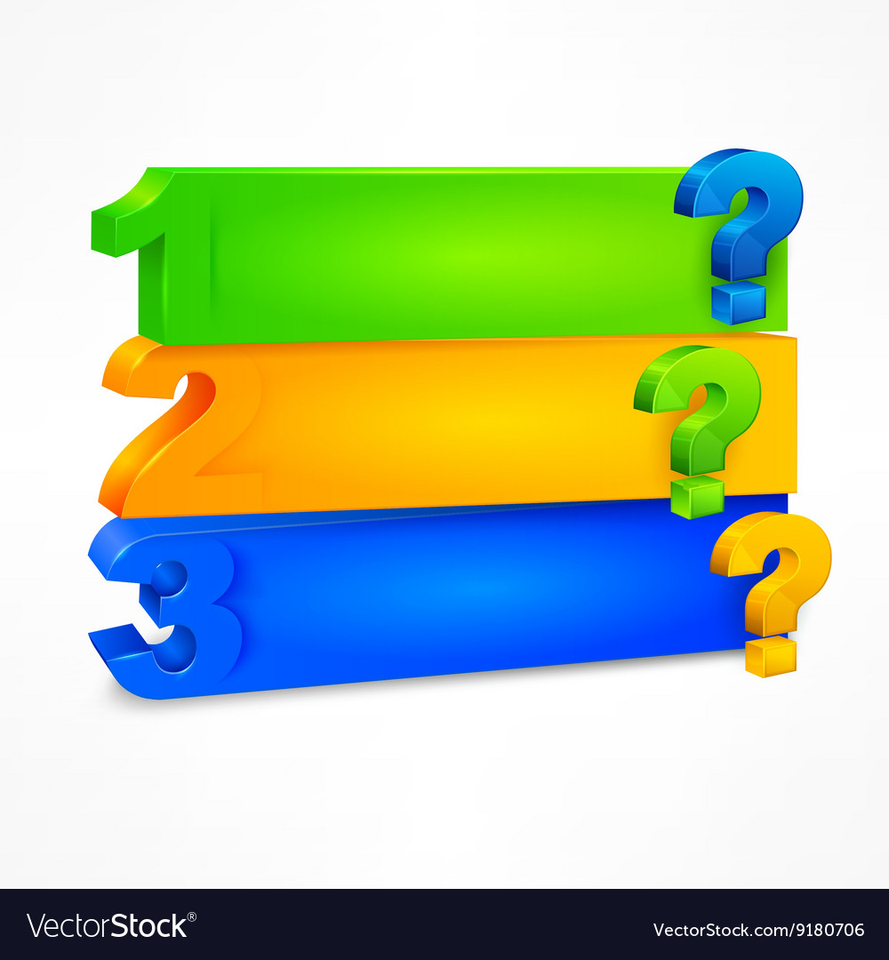 question mark template color royalty free vector image