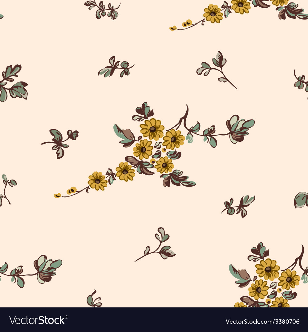 Seampless pattern yellow flower