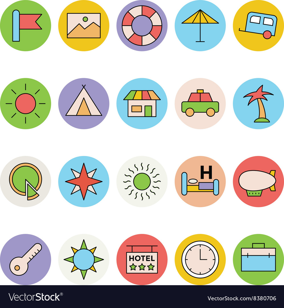 Travel Colored Icons 4