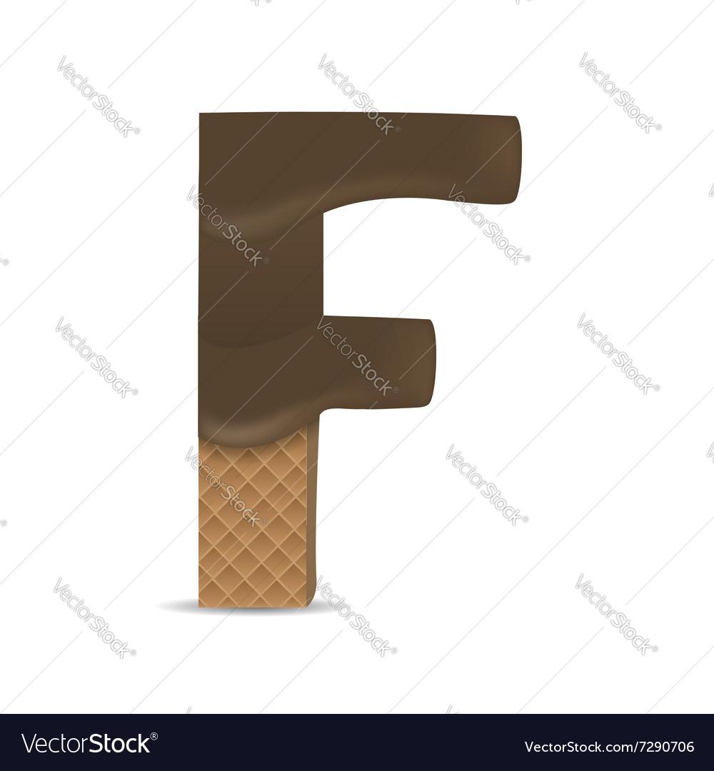 Wafer F letter vector image