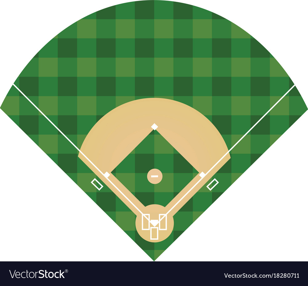 It is a graphic of Crafty Printable Baseball Field