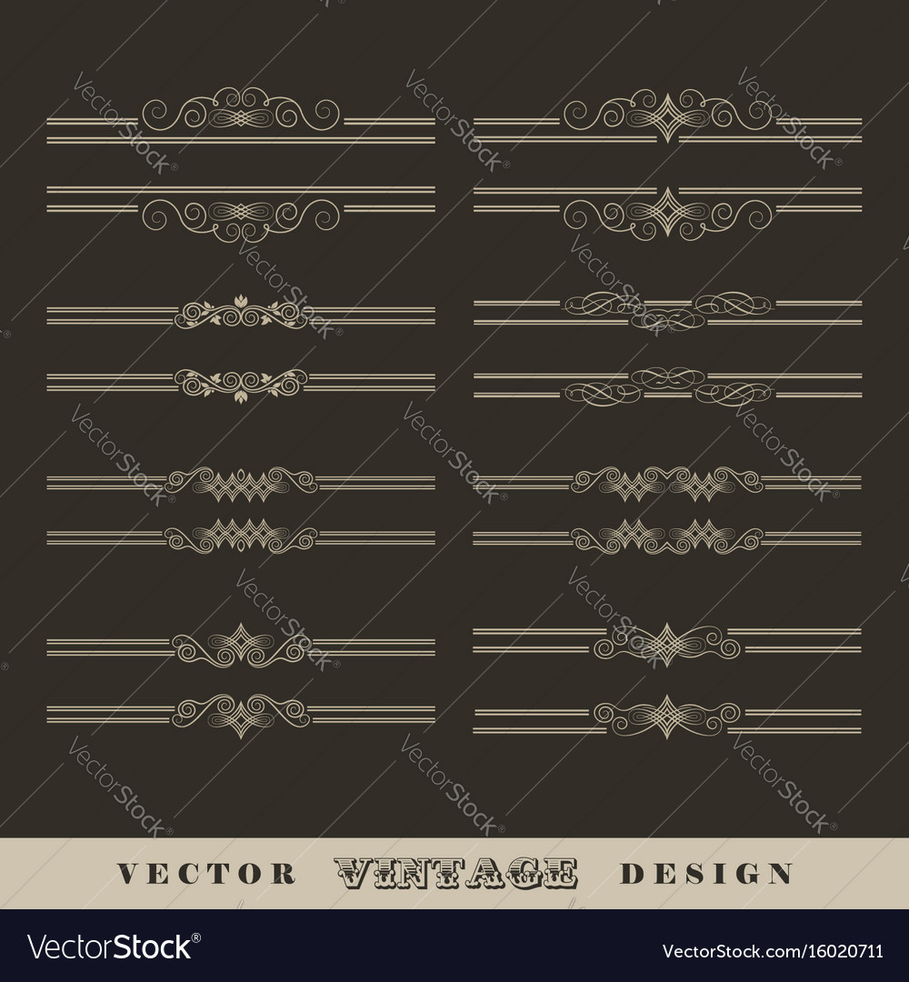 Vintage calligraphic border vector image