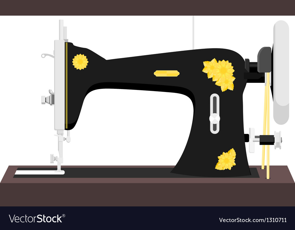 Vintage Sewing Machine Royalty Free Vector Image Fascinating Sewing Machine Vector Free