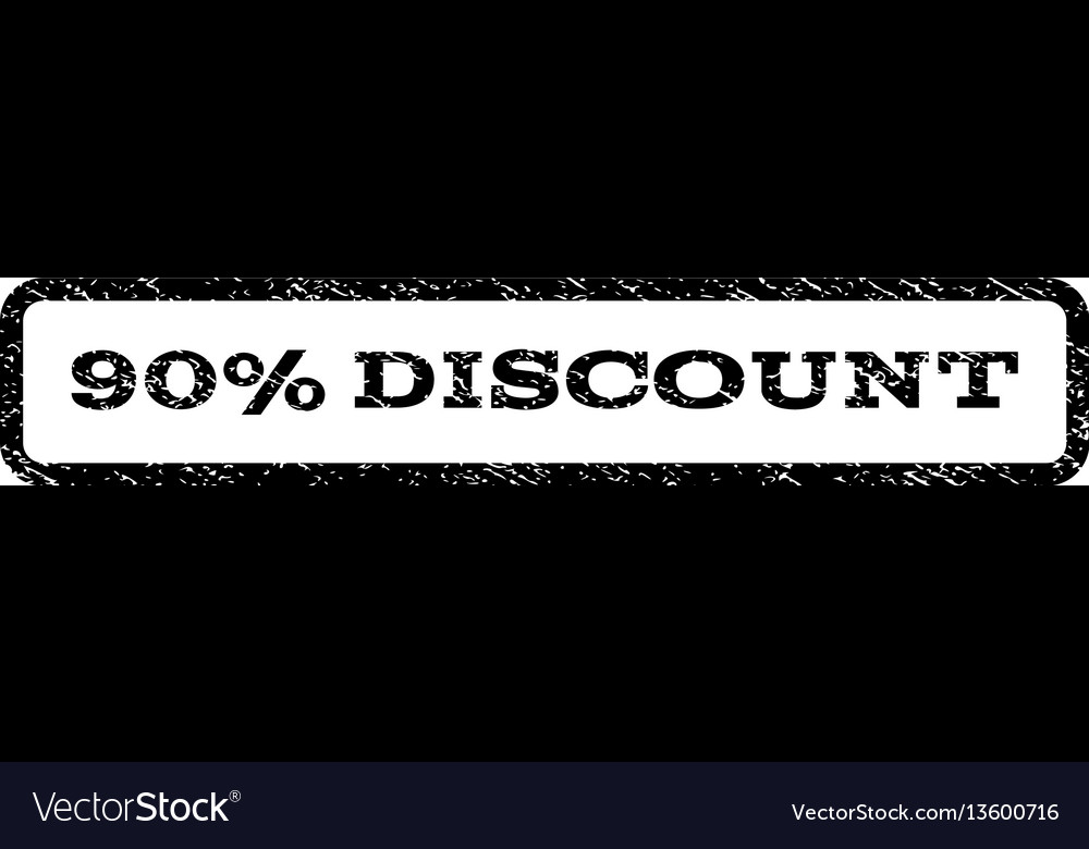 90 percent discount watermark stamp