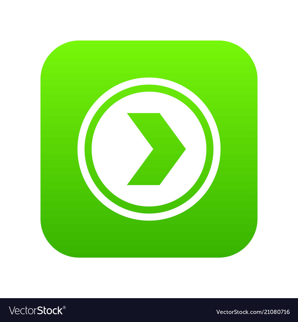 Arrow to right in circle icon digital green