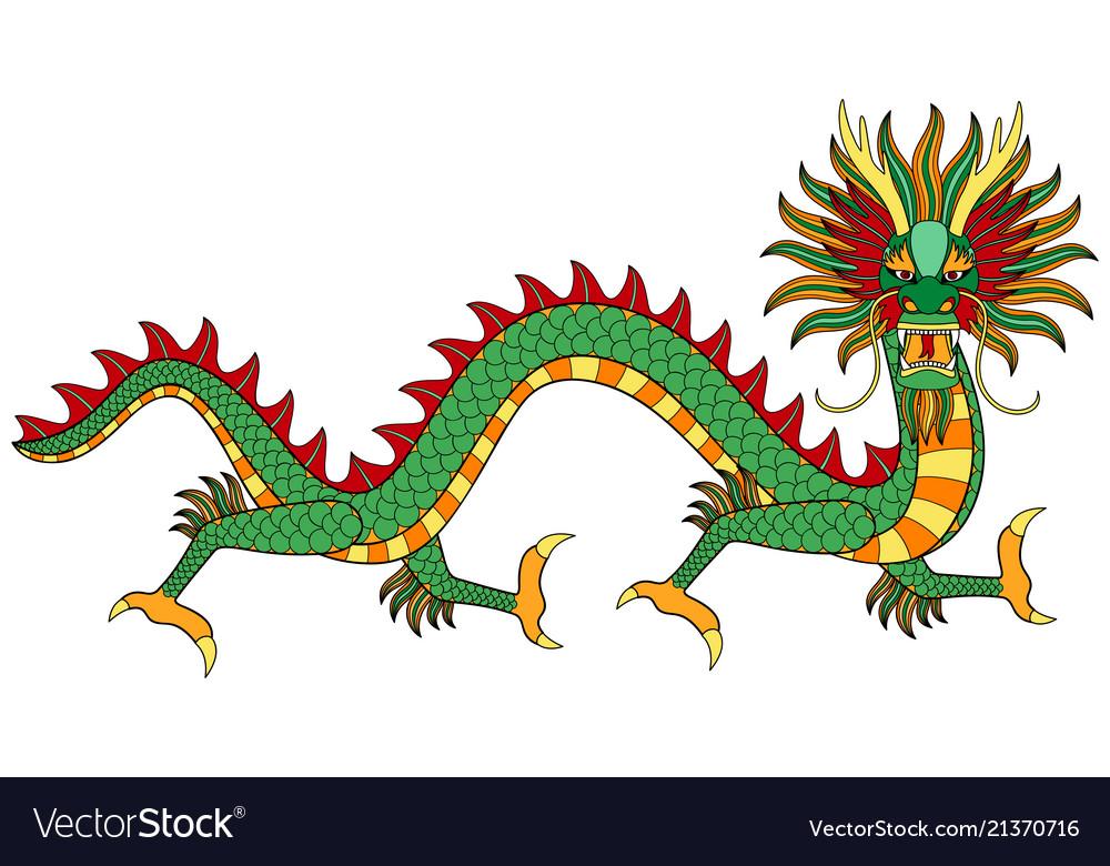 Asian dragon print
