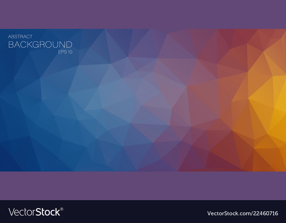 Flat horizontal triangle background