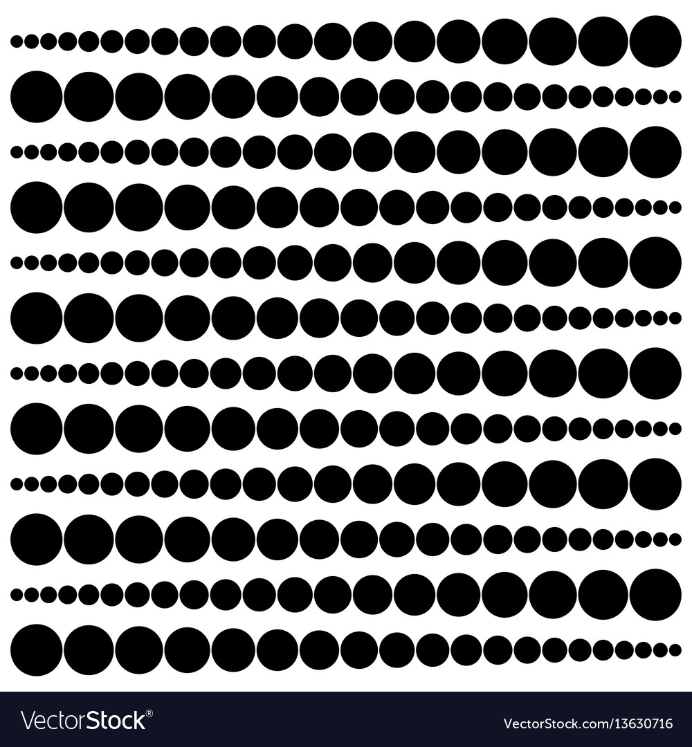 Geometric pattern widening circles from a point to