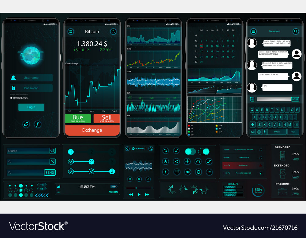 Interface app template for trading platform ui ux