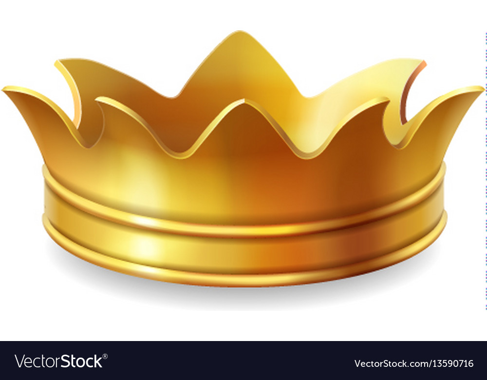 Isolated gold crown