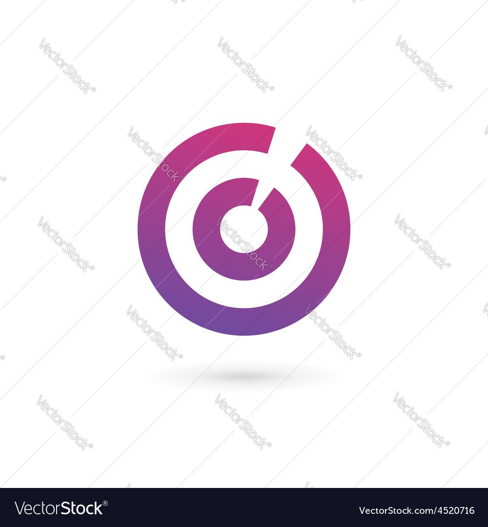 letter o number 0 target logo icon design template rh vectorstock com  target logo vector free download
