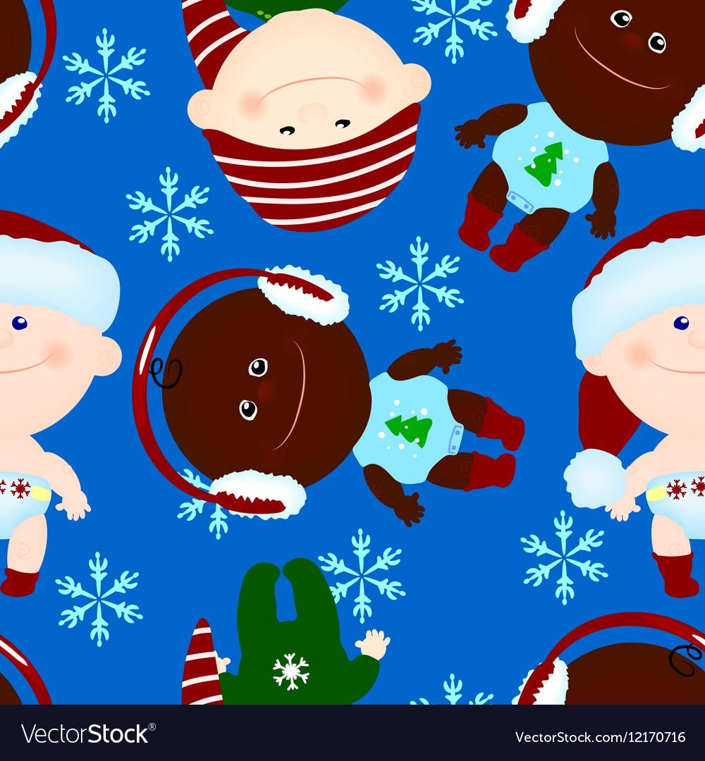 Seamless background baby kid christmas