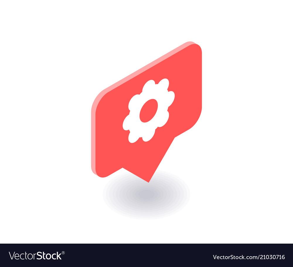 Setting icon symbol in flat isometric 3d