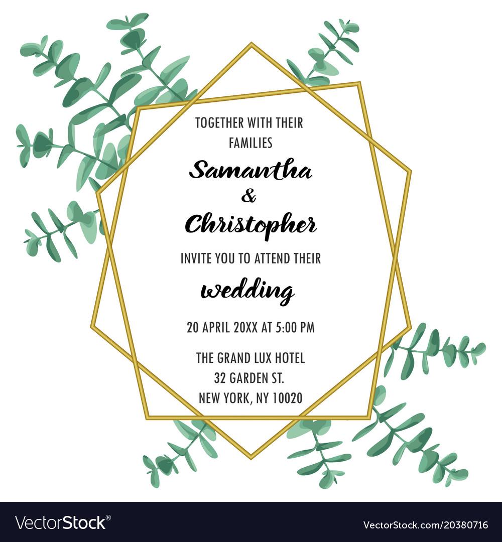Wedding Inviration With Eucalyptus