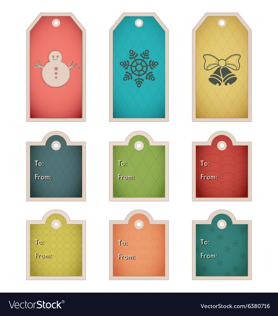 Christmas Gift Tags Template.Winter Holiday Gift Tag Template