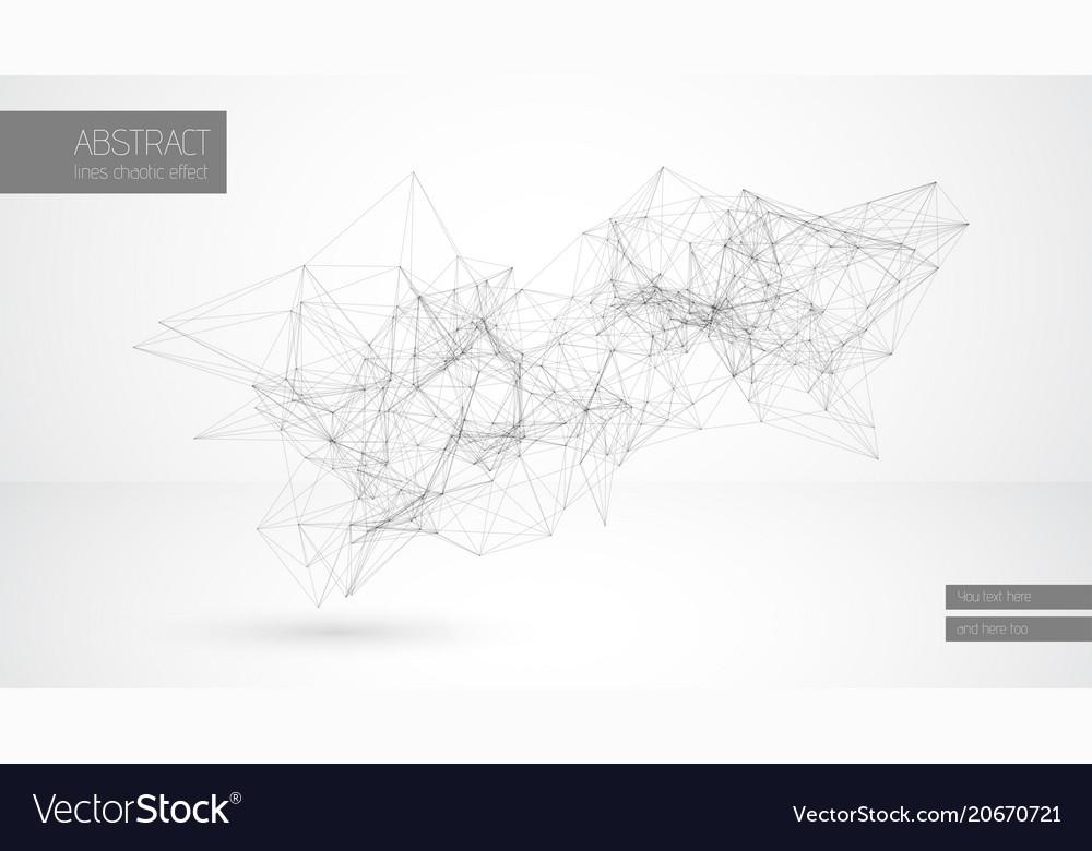 Abstract line cloud geometrical