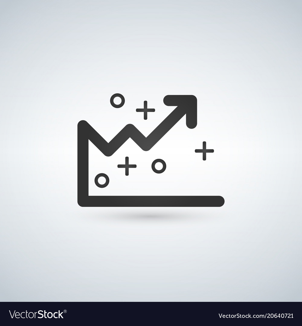 Analytics graph line icon outline sign linear