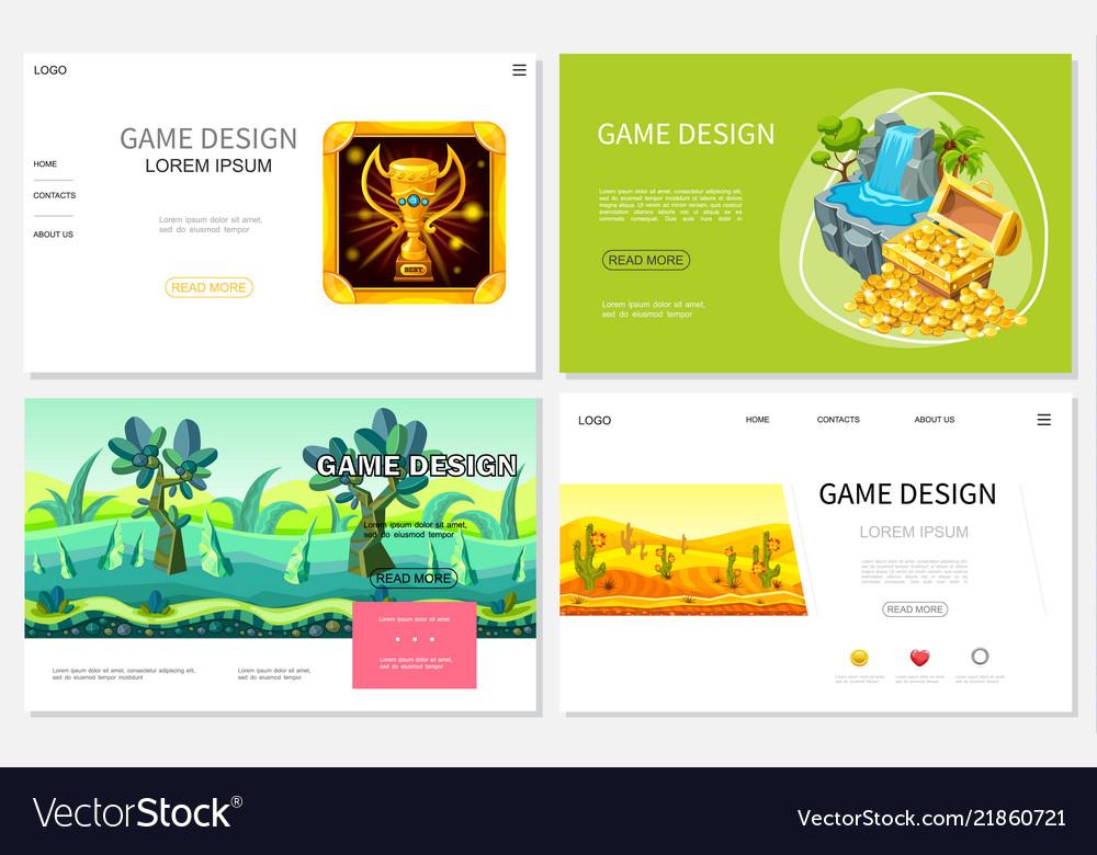 Cartoon game design websites set