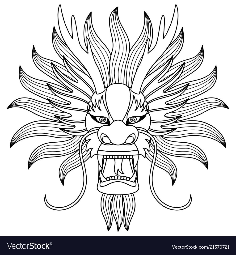 Chinese dragon head tattoo