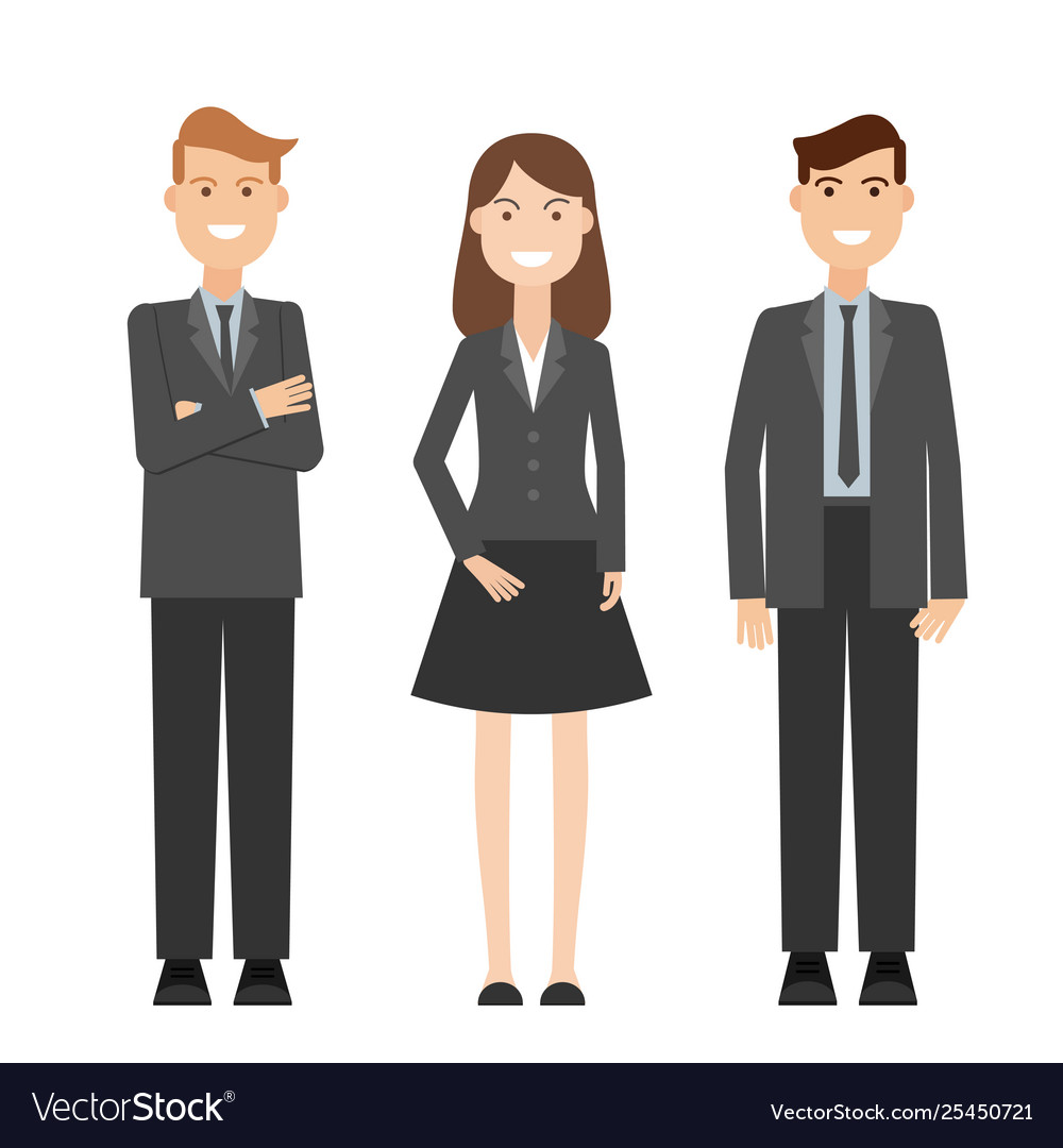 Detailed characters people business people
