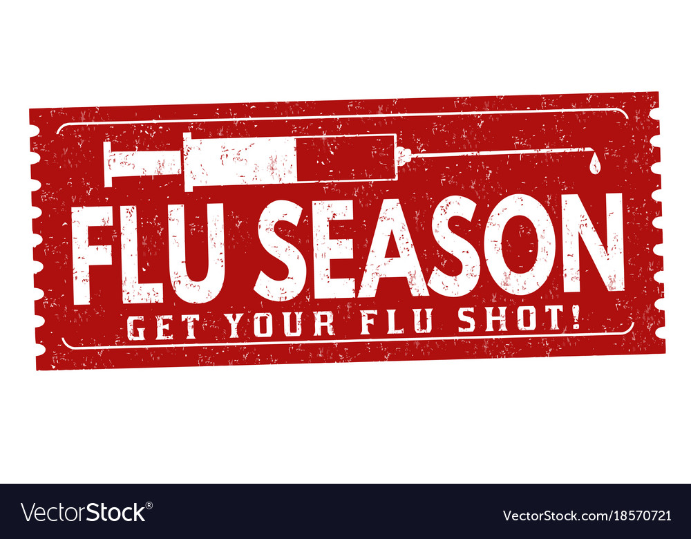 Flu season grunge rubber stamp