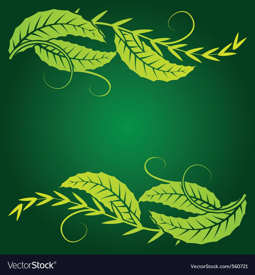 Foliage corner graphics