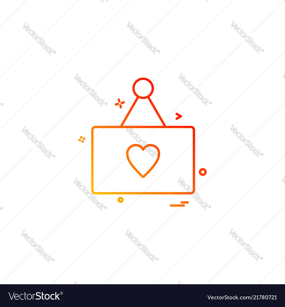 Heart card icon design