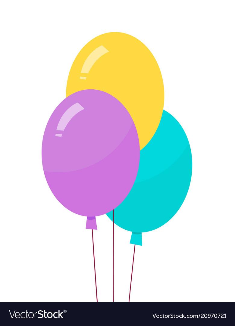 Helium air balloons on thread