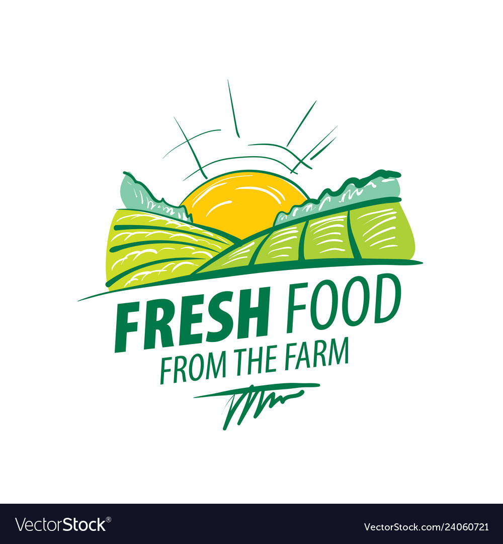 Logo fresh food from farm