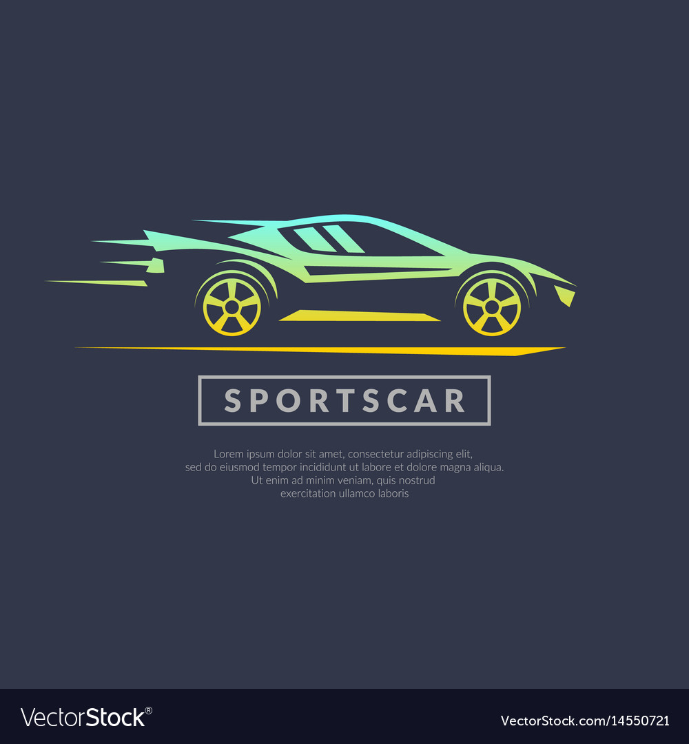Modern logo sports cars vector image