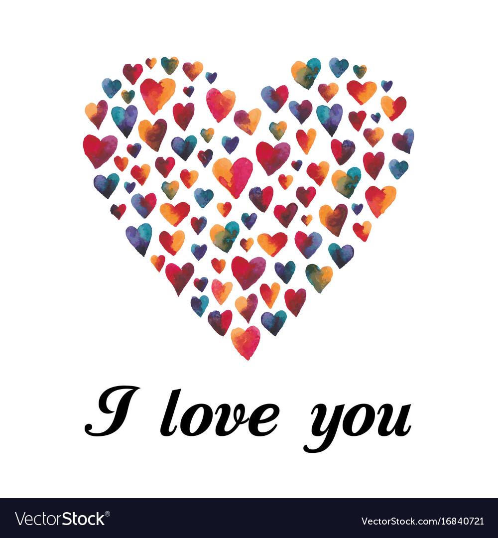 Multi-colored hearts
