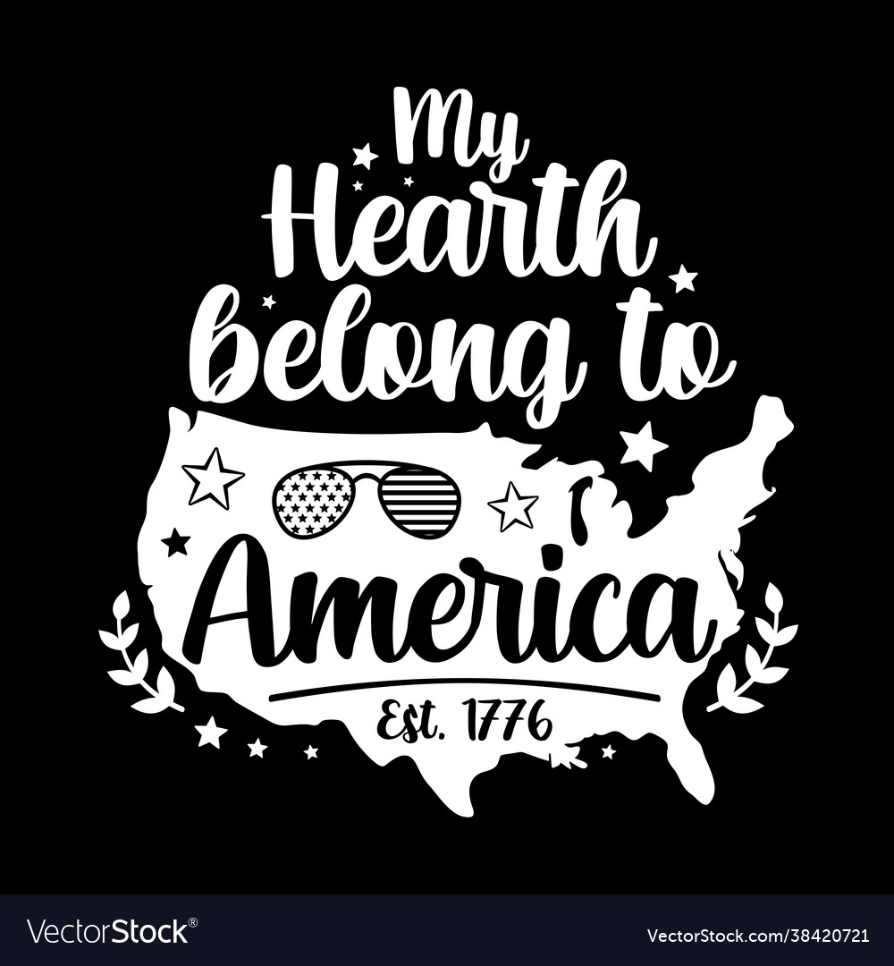 My hearth belong to america