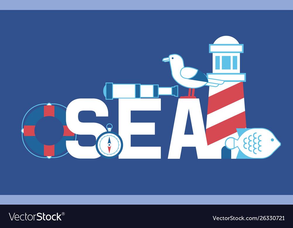Sea summer adventure banner